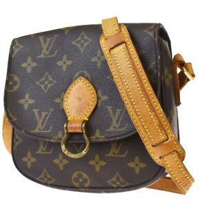Auth LOUIS VUITTON Mini Saint Cloud Shoulder Bag Monogram Brown M51244 30MH619