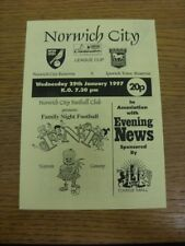 29/01/1997 Norwich City Reserves v Ipswich Town Reserves [Combination League Cup
