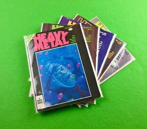 Heavy Metal Magazine Lot (1980): 5-Bk- Jan., Feb., March, April, May!