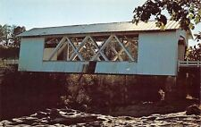 Linn County Oregon~Jordan Covered Bridge~Thomas Creek~1970s Postcard
