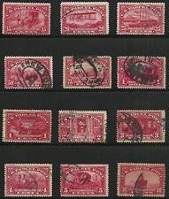 US Scott #Q1-12, Singles 1913 Parcel Post Complete Set FVF Used