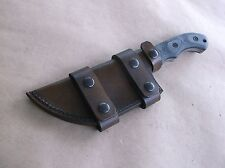 TOM BROWN TRACKER T1 TBT-010 CUSTOM LEATHER SHEATH(SHEATH ONLY)READ DESCRIPTION!