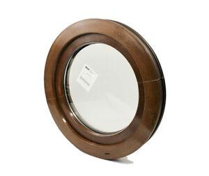 Rundfenster Kunststofffenster Golden Oak oder Nussbaum - 2 Seitig! KIPP