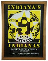"""1982 Original Robert Indiana Autoportrait 1969 Museum Gallery Poster Pop Art 24"""""""