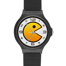 Gaming Pacman Watch Arcade Old School Video Game 1980 Game Plastic Wrist Band