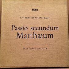 Bach Passio Secundum Matthaeum Matthew Passion Richter Archiv 14125/28 4 lp 1958