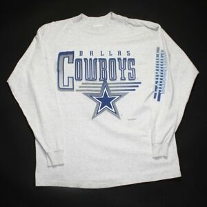 Vintage 1994 Dallas Cowboys Logo Athletic Long Sleeve Gray T-Shirt