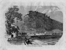 Stampa antica KONIGSTEIN Sächsische Schweiz Germania 1870 Alte Stich Old Print