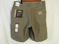 "New! Carhartt WB190 MUS Women's Canvas Carpenter Shorts 8"" Size 10, 31 x 8 x 19"