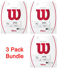 3 Packs of Wilson Ripspin 15 white tennis racquet string set - Authorized Dealer