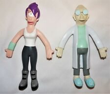 Futurama Tv Show Leela & Farnsworth Characters Bendable Figures Set
