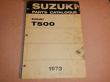 1973 73 SUZUKI T500 T 500 PARTS CATALOG SHOP SERVICE REPAIR MANUAL