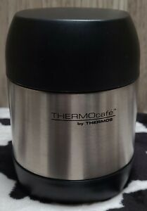 Thermos 12 oz ThermoCafe Vacuum Insulated Stainless Steel Food Jar Gunmetal