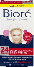 Biore Deep Cleansing Pore Strips Combo Pack, 24 Count