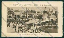 Bari Città Fiera Levante Crociera Atlantica Idrovolante Mini cartolina QQ4567