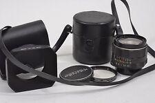 EXC++ PENTAX SUPER-TAKUMAR 28mm F3.5 LENS w/CAPS, CASE, HOOD +UV FILTER M42
