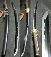 SOLD MH265 5A Tamahagane(III Katana Japanese Sword Clay Tempered Hadori Kesho