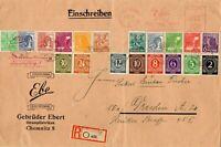 SBZ - Ganzsache - Einschreiben - Chemnitz - Dresden 1948