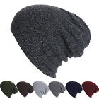 Men Women Unisex Knit Baggy Beanie Winter Warm Hat Ski Slouchy Chic Cap Skull