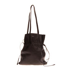 RRP€865 MICHAEL KORS COLLECTION Leather Tote Bag Black Drawstring Made in Italy
