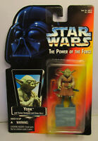 1995  Kenner Star Wars Yoda - POTF 2 Red Card Sealed Action Figure