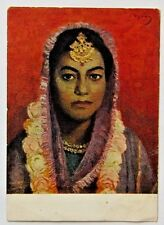 1955 Vintage USSR Russian Postcard-Indian Bride