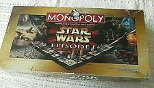 Star Wars Monopoly,Episode 1,Hasbro,Collector Edition w/8 tokens-3D GameBoard,