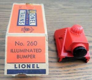 Vintage Lionel No. 260 Illuminated Bumper with Original Box O Gauge - Untested