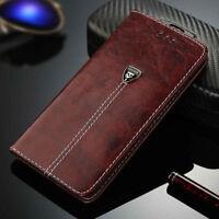 Magnétique Flip Housse Cover Portefeuille Étui en cuir pour iPhone Samsung     R