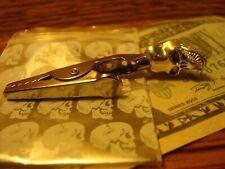 Tibet SILVER Tone SKULL Custom Made Tobacco, Herb Roach Alligator Roach Clip