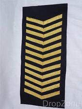 NEW Qty 12 Strip Royal Navy Good Conduct Chevrons / Stripes Gold Lace on Blue