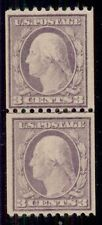 Us #489 3¢ violet, type I, Joint Line Pair, og, Nh, Vf, Scott $70.00