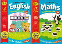 ENGLISH & MATHS AGE 4-5 RECEPTION ACTIVITY LEARNING HOMEWORK SCHOOL WORKBOOKS
