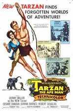 Tarzan Ape Man 1959 Poster 01 A3 Box Canvas Print