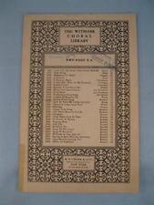 Italian Street Song Choral Sheet Music Vintage 1925 Naughty Marietta Herbert (O)