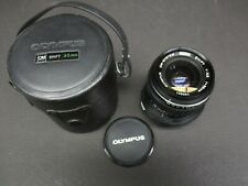 Olympus 35mm 2.8 shift lens with case mint condition OM sytems 109821