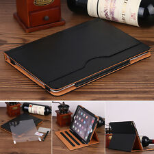 """Black iPad Pro 10.5"""" 2017 Slim Magnetic Smart Leather Case Clear Back Cover"""