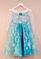 Disney Frozen Elsa Costume Dress Tiara Halloween Size M 7-8 Birthday