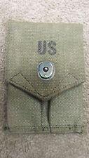 US M1923 M1956 COLT 1911 45 DOUBLE MAG MAGAZINE POUCH OD CANVAS POST VIETNAM