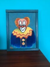 """Original Oil-Pastels Painting """"A CLOWN""""Signed by ROSE PODOS,1987 Framed"""