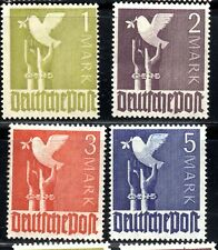 1947 Dove of peace 4 values (3mk mint hinged) rest Mint No Hinge