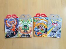 1995 McDonald's Happy Meal Box, Hot Wheels, Set of 2
