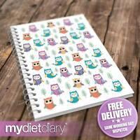 SLIMMING WORLD COMPATIBLE FOOD DIARY - Owls (S037W) 12wk journal weight loss