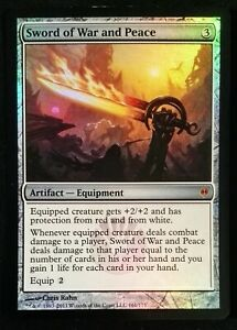 MTG 1x Foil SWORD OF WAR AND PEACE New Phyrexia