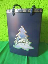 """Keksdose Blechdose """"Shopping Bag""""Vorratsdose Gebäck Tasche Weihnachten Dorf Baum"""