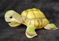 "Vintage STEIFF Turtle ""Slo"" Button ID, Yellow Stocktag #2455/14 Made In Germany"