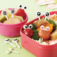 Set Cute Eye Mini Food Fruit Picks Baby Kid Forks Bento Lunch Box Tool Tableware