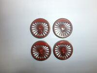 4 große Fleischmann Lokräder Treibräder Speichenräder 22/24mm Spur H0