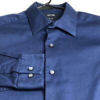 Apt. 9 Men's Long Sleeve Button Up Dress Shirt 16 ½ 36 37 Dark Blue Slim Fit