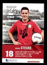 Kevin Steuke Autogrammkarte Rot Weiss Oberhausen 2013-14 Original +A 159635